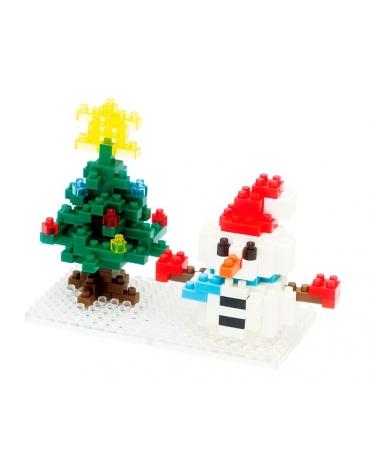 Muñeco de Nieve y Árbol de Navidad - Nanoblock