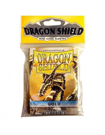 Fundas Dragon Protector Mini - Dorado 62 x 89 mm
