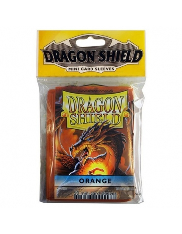 Fundas Dragon Protector Mini - Naranja  62 x 89 mm