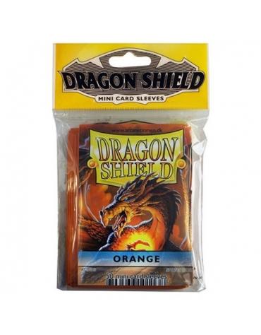 Fundas Dragon Protector Mini - Naranja  62 x 89 mm