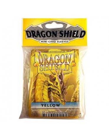 Fundas Dragon Protector Mini - Amarillo  62 x 89 mm