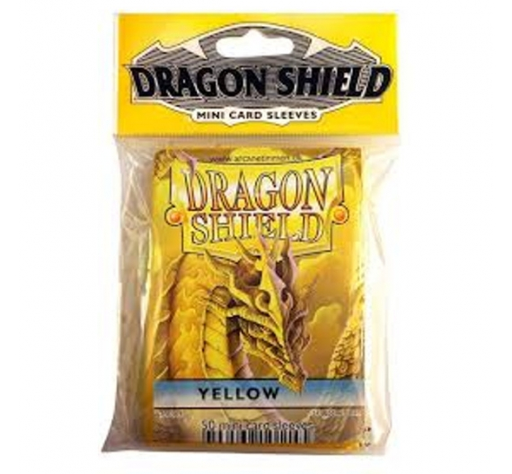 Fundas Dragon Protector Mini - Amarillo  62 x 89 mm