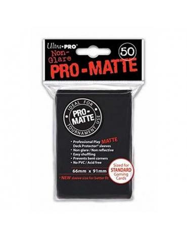 Pro-Matte Fundas Standard, Negro 66 x 91 mm