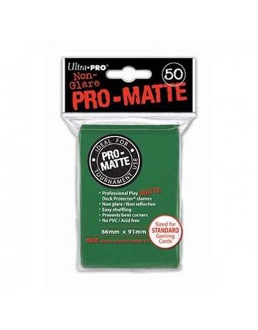 Pro-Matte Fundas Standard, Verde 66 x 91 mm